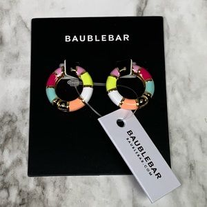 Baublebar Manila Huggie Hoop Earrings NWT